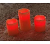 3-er Set LED-Kerze
