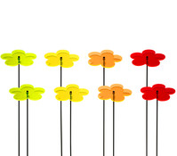 Acryl-Sonnenfänger-Set Blume L, 8 Stück