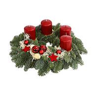 Adventskranz, dekoriert