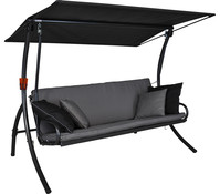 Angerer Elegance Style Hollywood-Schaukel Grau, 3-Sitzer