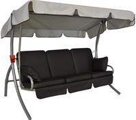Angerer Hollywoodschaukel Premium Comfort Schoko, 3-Sitzer