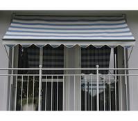 Angerer Klemmmarkise Design 1100 blau-beige, unterschiedliche Breiten