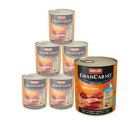 animonda Gran Carno Junior Rind&Huhn, Nassfutter, 6x400g