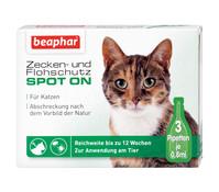 beaphar Zecken- & Flohschutz SPOT-ON für Katzen, 3 x 0,8 ml