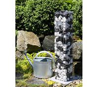 bellissa Alluminium-Gabione Wasserzapfsäule, 16 x 16 x 90 cm