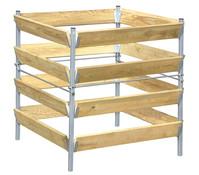 bellissa Komposter Holz/Metall, 90 x 90 x 90 cm