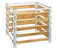 bellissa Kompostersilo Metall/Holz, 100 x 100 x 100 cm