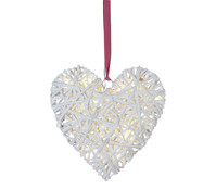 Best Season LED-Dekoherz Willow Heart, 33 x 35 cm