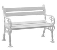 Blome Bank Linderhof, 2-Sitzer, weiß