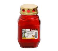 Bolsius Glas-Grablicht, rot