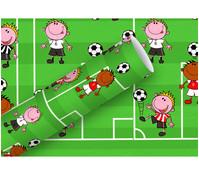 Braun+Company Geschenkpapier Fußball, 2 m