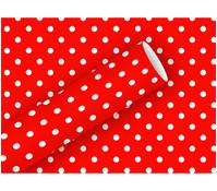 Braun+Company Geschenkpapier Punkte Rot, 2 m