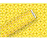 Braun+Company Geschenkpapier Rosina Gelb, 2 m