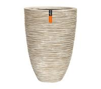 Capi Europe Polystone-Vase in Riffeloptik, elfenbein