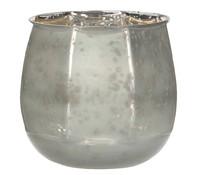 Casa Vivante Glas-Windlicht, Ø 14 x 12 cm, weiß