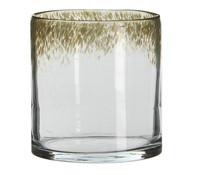 Casa Vivante Glas-Windlicht, Ø 14 x 15 cm, grün