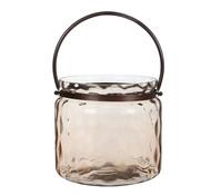 Casa Vivante Glas-Windlicht, Ø 25 x 24 cm, pfirsich