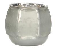 Casa Vivante Glas-Windlicht, Ø 9,5 x 8 cm, weiß