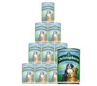 Christopherus Fleischmahlzeiten Junghund, Nassfutter, 12 x 400g