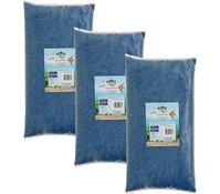 Dehner Aqua Aquarienkies, enzianblau, 2-4 mm, 3 x 5 kg