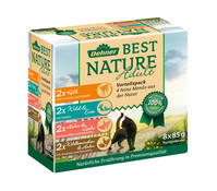 Dehner Best Nature Adult, Nassfutter, Multipack, 8 x 85g
