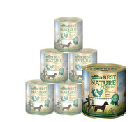 Dehner Best Nature für Hunde, Adult, Nassfutter, 6 x 400g/800g