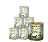 Dehner Best Nature für Hunde, Adult, Nassfutter, 6x400g/800g