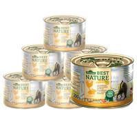 Dehner Best Nature Herbstmenü Huhn & Wildkaninchen, Nassfutter, 6x