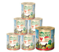 Dehner Best Nature Sommermenü, Nassfutter, 6 x 400g/800g
