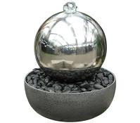 Dehner Edelstahl-Gartenbrunnen Globe, Ø 45 x 52 cm