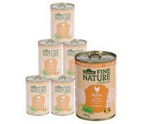 Dehner Fine Nature Adult Huhn, Nassfutter, 6x200g/400g