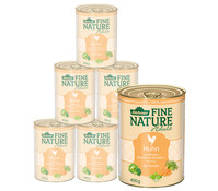 Dehner Fine Nature Adult, Huhn, Nassfutter, 6x200g/400g/800g
