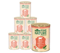 Dehner Fine Nature Adult, Rind, Nassfutter, 6x200g/400g/800g