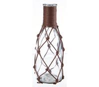 Dehner Glasvase mit Netz, 6x18 cm