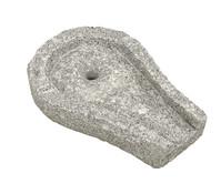 Dehner Granit-Bachlaufschale mit Loch und Anschlussstück