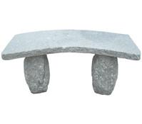 Dehner Granit-Gartenbank, gebogen, 2-Sitzer