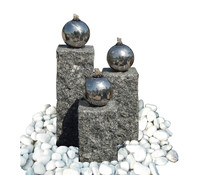 Dehner Granit-Gartenbrunnen Mirano, 14 x 14 x 40 cm