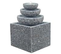 Dehner Granit-Gartenbrunnen Vermont, 42 x 42 x 83 cm