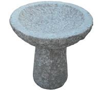 Dehner Granit-Vogeltränke für den Garten, Ø 35 cm