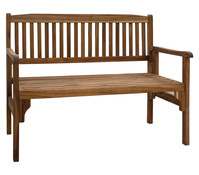 Dehner Holzbank Lucy, 2-Sitzer