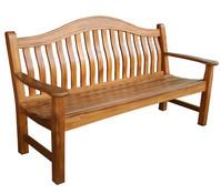 Dehner Holzbank Samui, 3-Sitzer