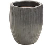 Dehner Keramik-Topf mit Rillenstruktur