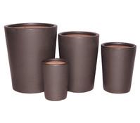 Dehner Keramik Topf-Set, glasiert, rund