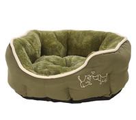 Dehner Kuschelbett Sammy, oval, grün
