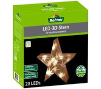Dehner LED 3D Stern, 20 Lichter, Ø 30 cm