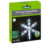 Dehner LED-Acryl Schneeflocke 30 cm, batteriebetrieben