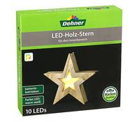 Dehner LED Holzstern, 10 LEDs