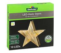 Dehner LED Holzstern, 26 cm