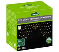 Dehner LED-Lichtervorhang Schneeflocke, 140 x 96 cm