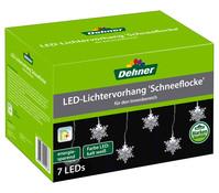 Dehner LED-Lichtervorhang Schneeflocken, 7er